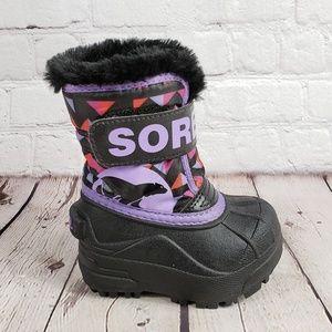 Sorel Pink Purple Furry Boots 4 EU 21 Kids Shoes